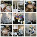 Monday brunch with @mymoments #littleprince #cafe #brunch #flatwhite #roselatte #salmonciabatta #小王子 #小王子咖啡座 #rainbow #rainbowrose