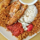 Have a go at this plate of Nasi Ayam Goreng and you will understand why there is a perpetual queue that stretches especially during peak hours.