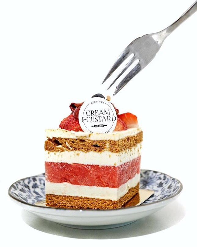 There's still some time left to get your Watermelon Strawberry Cake from Cream & Custard before they moved out of their current premises on 4 May.