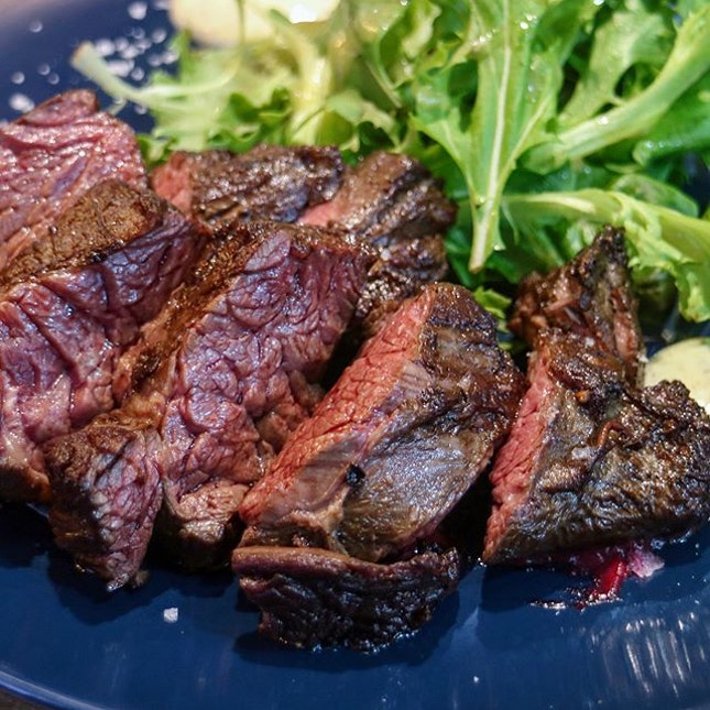 When at Steakville, you eat steak.
