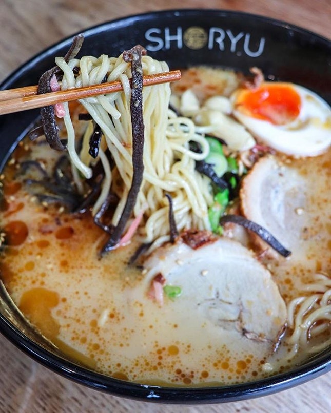 The final food pitstop before we head off to the airport was at Shoryu Ramen which is a chain of restaurants that specializes in Hakata tonkotsu ramen.