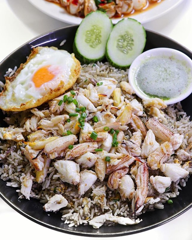 The dish pictured is called the Insane crab fried rice (340 THB) and it looks and taste absolutely insane!