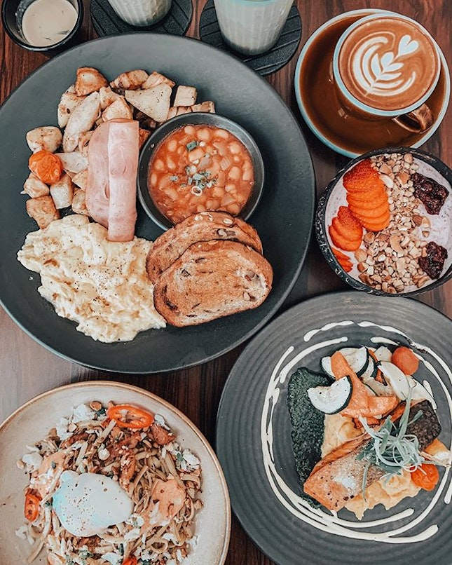 Weekend brunching across the border at one of the more successful cafes in JB.