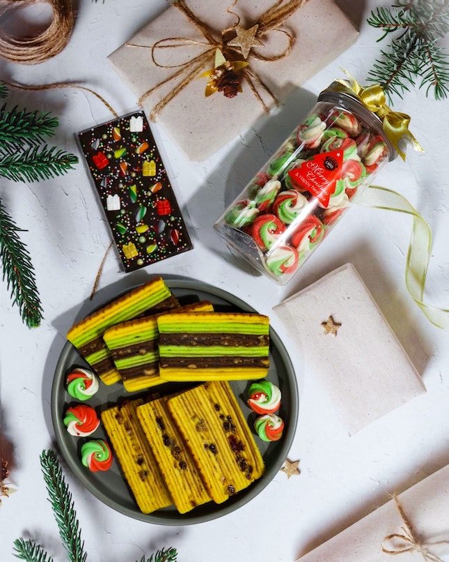 Specializing in the art of making kueh lapis, The Lapis Place has over 20 lapis flavours, including seasonal ones such as the Christmas collection.