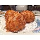 Cute lil hedgehog - salted egg custard bun #eastoceanteochewrestaurant #whateileeneats #burpple #dimsum #wafflysisters