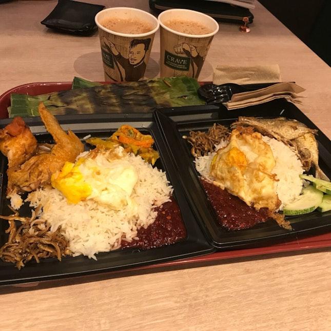 set F (Chicken Rendang) & Set A(Kuning Fish)