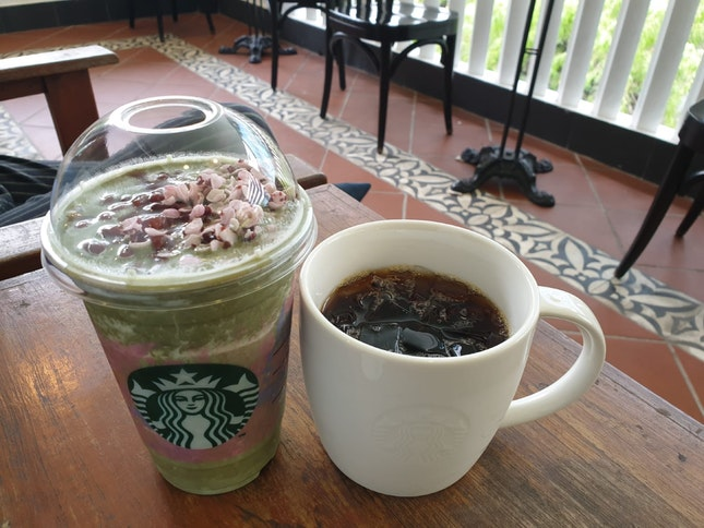 New! Item: Matcha Azuki Creme Blossom Frappuccino $10.20 (Vente size) + Cold Brew (small)$5.20