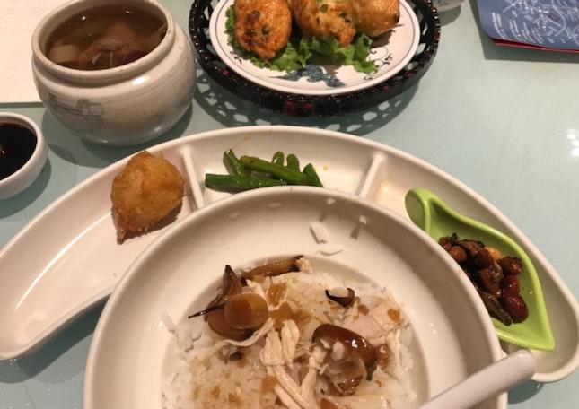 Prawn Roll Rice Set Meal (RM 33.18)