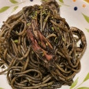 Squid ink Spaghetti ($5.90)