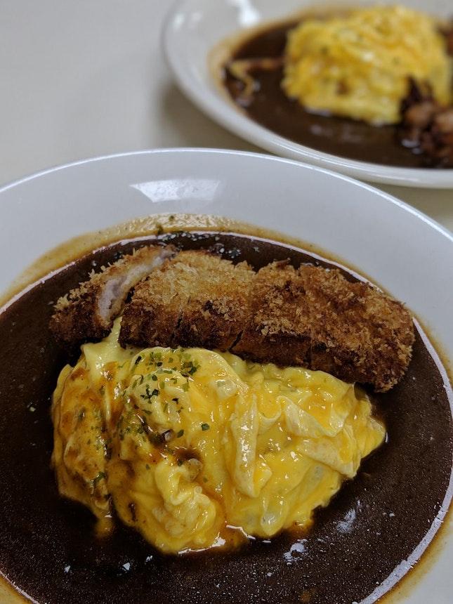 Tonkatsu Omurice with Demiglaze Sauce