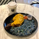 Chicken Percik with Nasi Kerabu