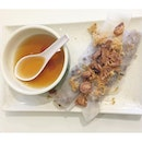 Banh cuon nhan thit ($3.50/ 2 rolls) Minced pork and mushrooms steamed rice crepe rolls.