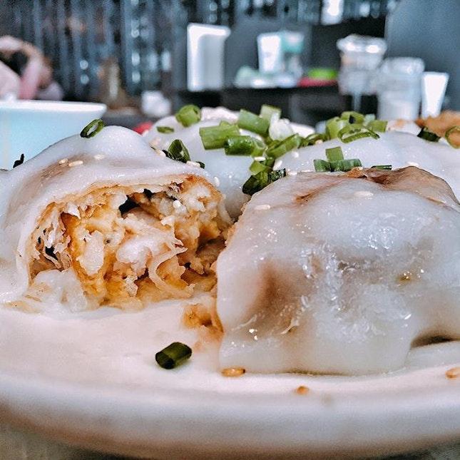 Salted Egg Yolk Shrimp Chee Cheong Fan