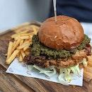 Awesome Ayam Penyet Burger 🔥🔥