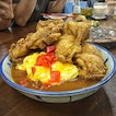Crunchy fried chicken with thick Japanese curry and creamy scrambled egg, every mouthful.
