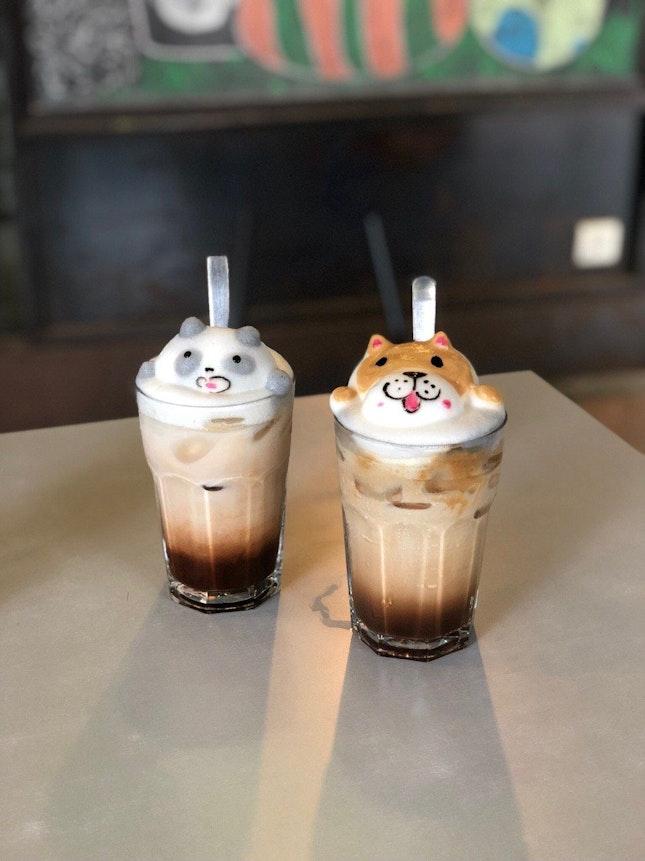 Iced Mocha X Iced Taro Latte