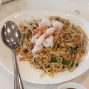 Teochew Fried Noodle With Assorted Seafood & Minced Pork