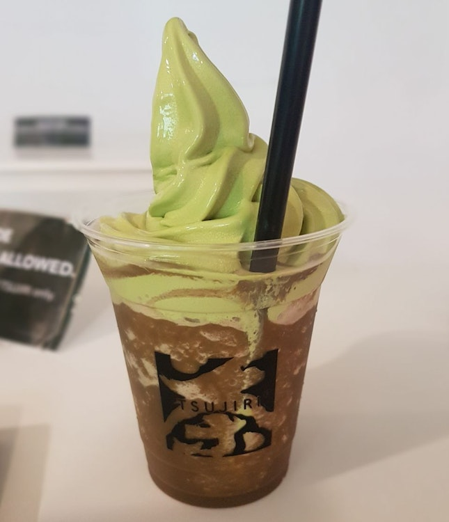 O-matcha Chocolate Float