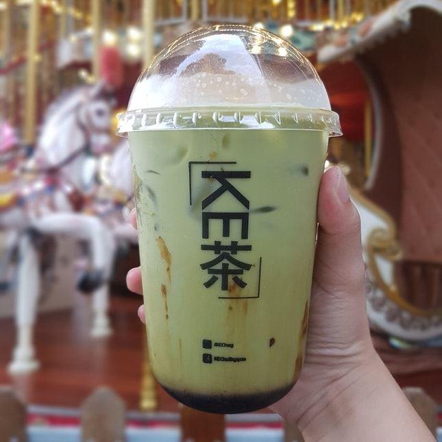 Brown Sugar Thai Matcha Milk Tea