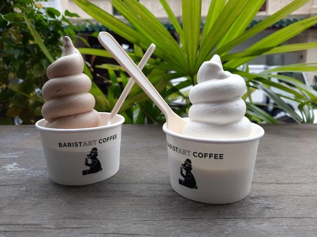 Hokkaido Milk & Coffee Soft Serve