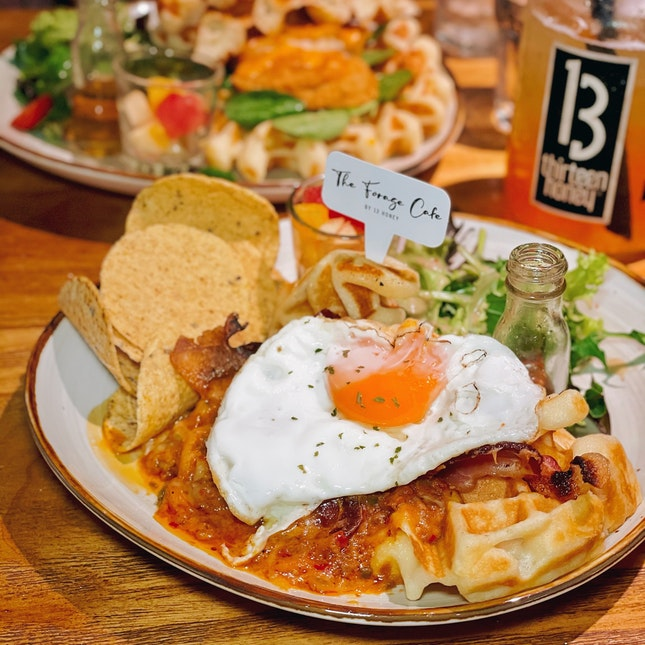 Jalapeño Beef Ragu Waffle Sandwich