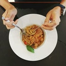 Fried Chicken Chop With Salted Egg Spaghetti ($10.90)