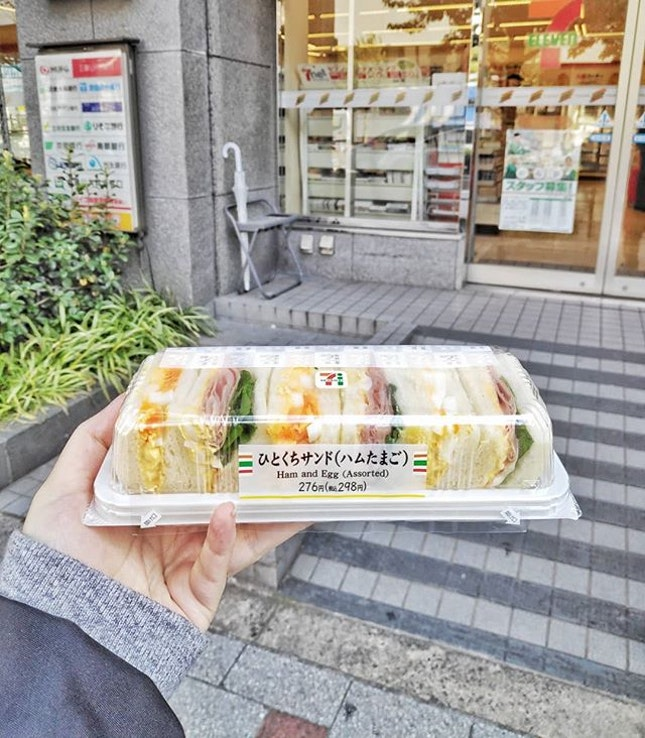 Missing this glorious creamy egg sandwich from Japan's 7-11.