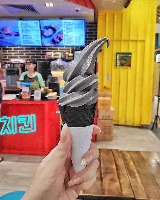$1.20 black sesame ice cream ✨