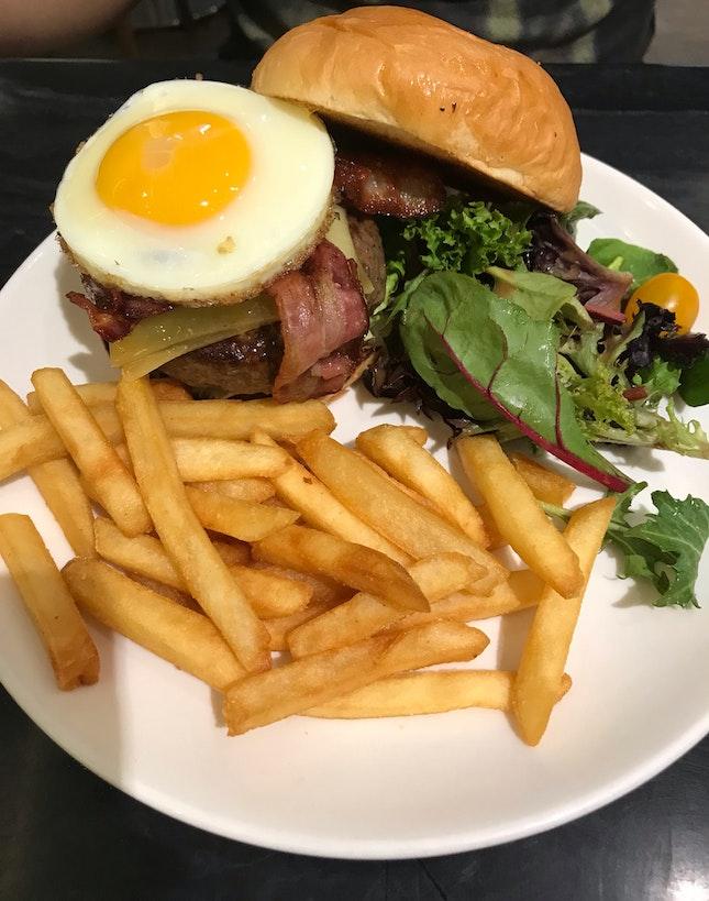 Bacon, Egg And Cheese Burger $24