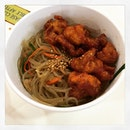 #korean #japchae w/ #honey #chickenball #carboreload after #longday at #work #instafood #foodporn #foodlover #burpple #kkuldak