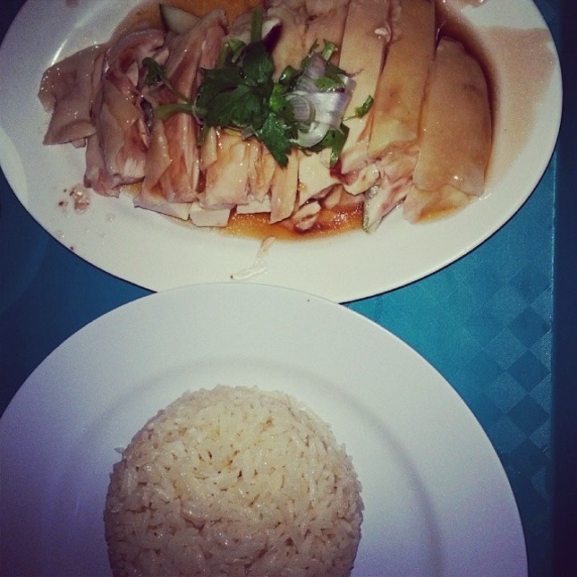 a Singapore delicacy - chicken rice.
