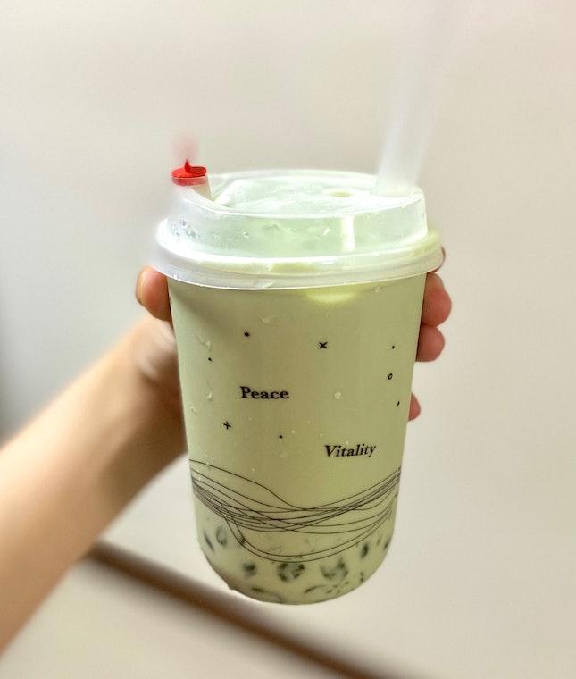 Peppermint Milk Tea + Pearl Jellies [M- $4.90]