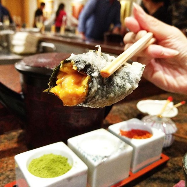 Tenshin 👍🏻 ✅Course Meal {10} Course 5: Tempura Uni.