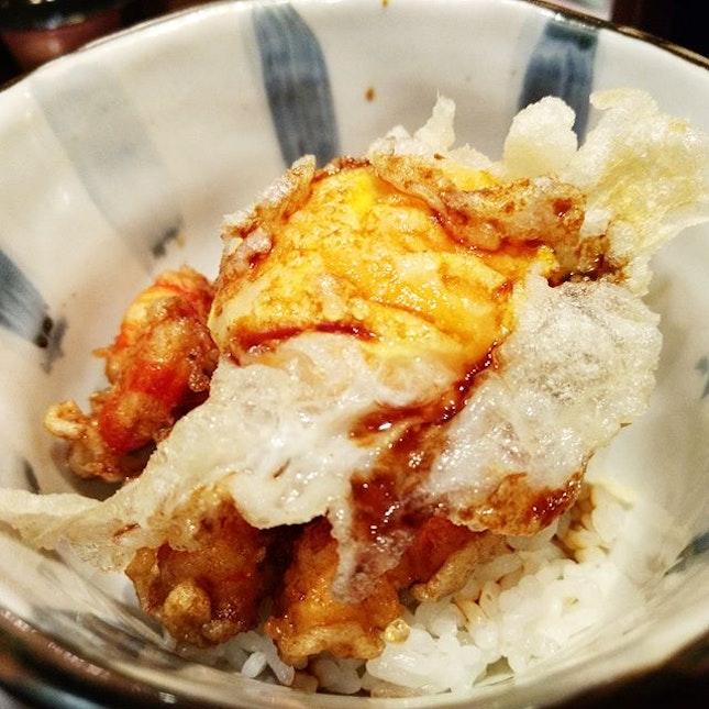 Tenshin 👍🏻 ✅Course Meal {10} Course 8: Tempura Don.