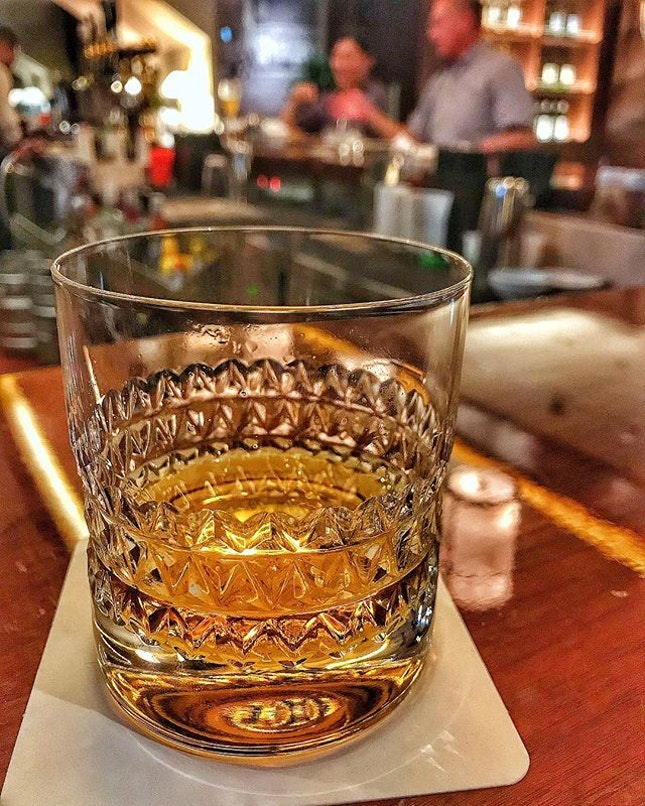 An indulgence for me would be this Lagavulin 16 and a medium rare, dry aged Porterhouse.