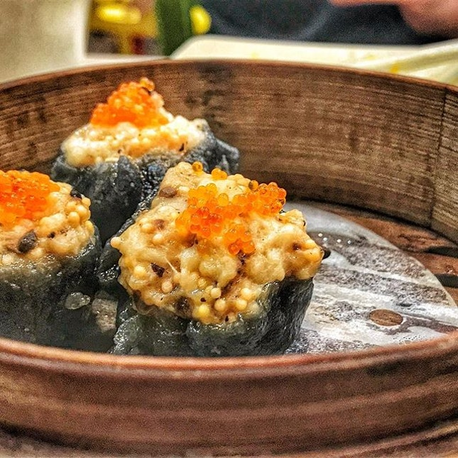 Charcoal Shrimp Siew Mai from Dim Sum Haus!