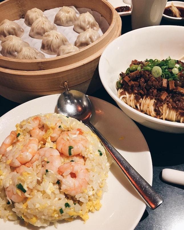 Egg Fried Rice W Shrimp, 炸酱面, XLBs