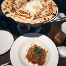 Carbonara Pizza, Spaghetti Bolognese