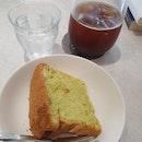 Americano and Pandan Chifforn Cake