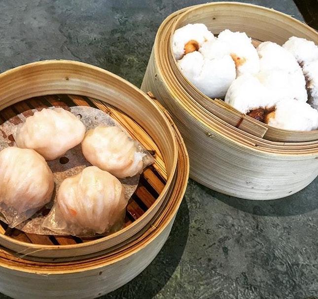 Steamed Shrimp Dumplings & Steamed B.B.Q. Buns.