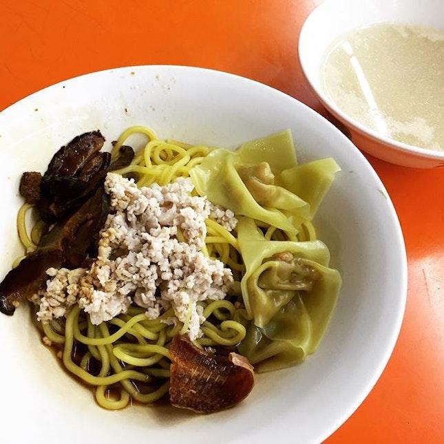 Minced Meat Noodle (Dry) @ Ah Kow Mushroom Minced Pork Mee.