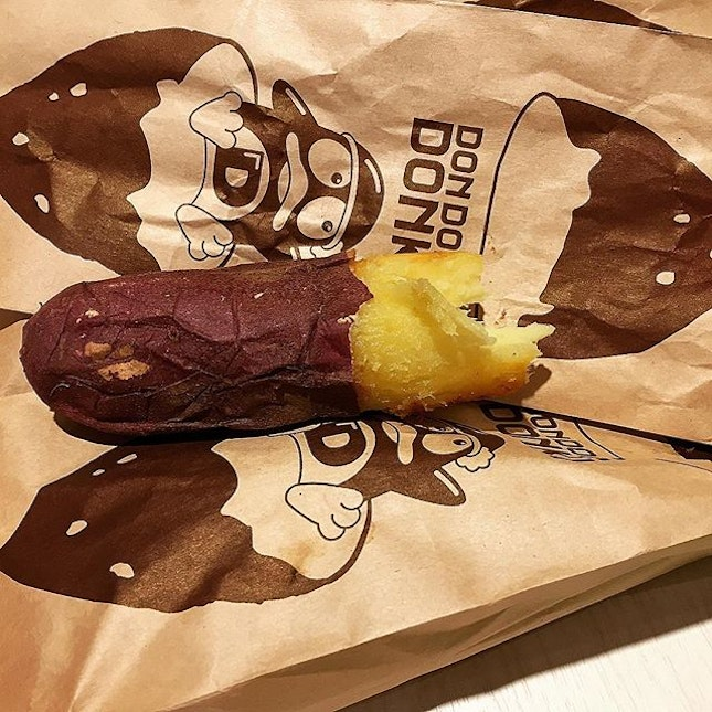 Piping Hot Baked Sweet Potato @ Don Don Donki Orchard Central, 181 Orchard Road Basement 2.