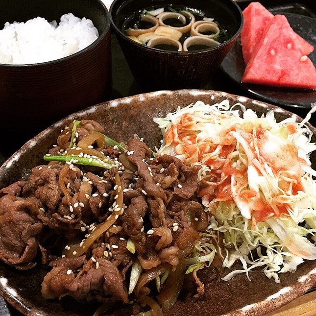 Yaki Niku Set At Sushi Goshin @ VivoCity, 1 Harbourfront Walk #B2-28.