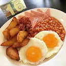 Bacon, Eggs, Chips & Beans [Plus Additional Ham] And Fried Bananas With Honey @ Colbar, 9A Whitechurch Road.
