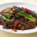 Stir-Fried Beef With Black Bean Sauce 豉汁牛肉 @ Hoy Yong Seafood Restaurant, Blk 352 Clementi Avenue 2 #01-153.