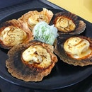 Grilled Scallop [Hotate Tobiko Yaki] @ Unkai Teppanyaki & Japanese Cuisine | 51 Old Airport Road | Old Airport Road Food Centre | #01-88/89.