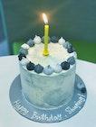Customised Marble Birthday Cake