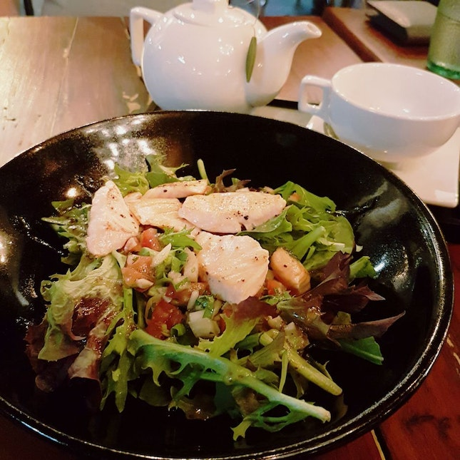 Nice food for cafe standard, unfriendly atmosphere.
