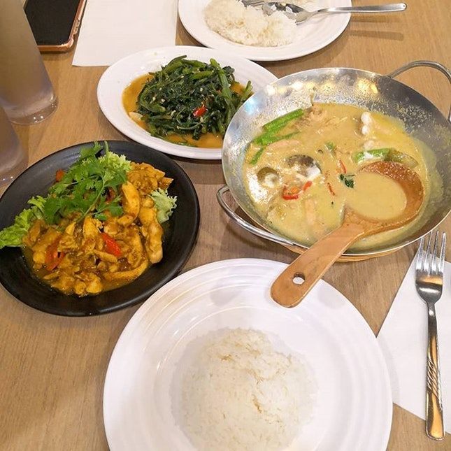A filling decent meal for two at Sakon Thai.