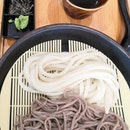Zaru Udon + Soba Mix($8.90) with Set($12.90) which include a side dish.